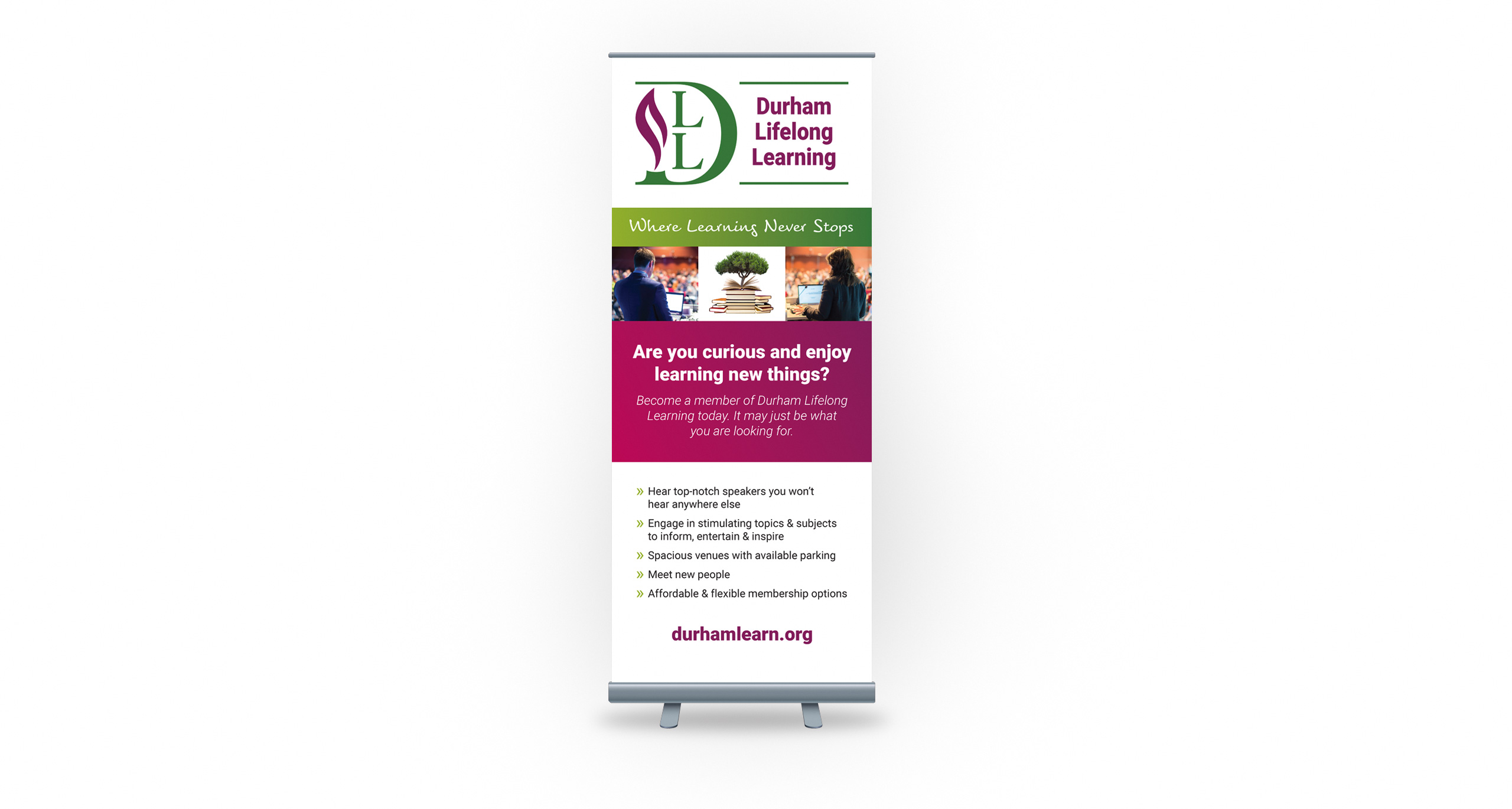 Pull-Up Display for Durham Lifelong Learning