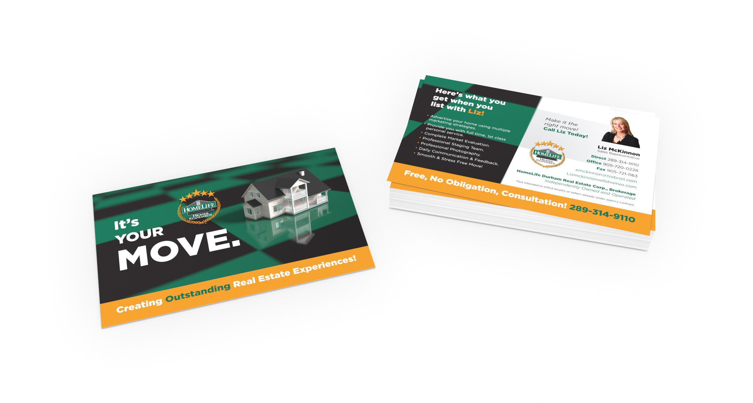Postcard Design / Direct Mail for HomeLife Real Estate