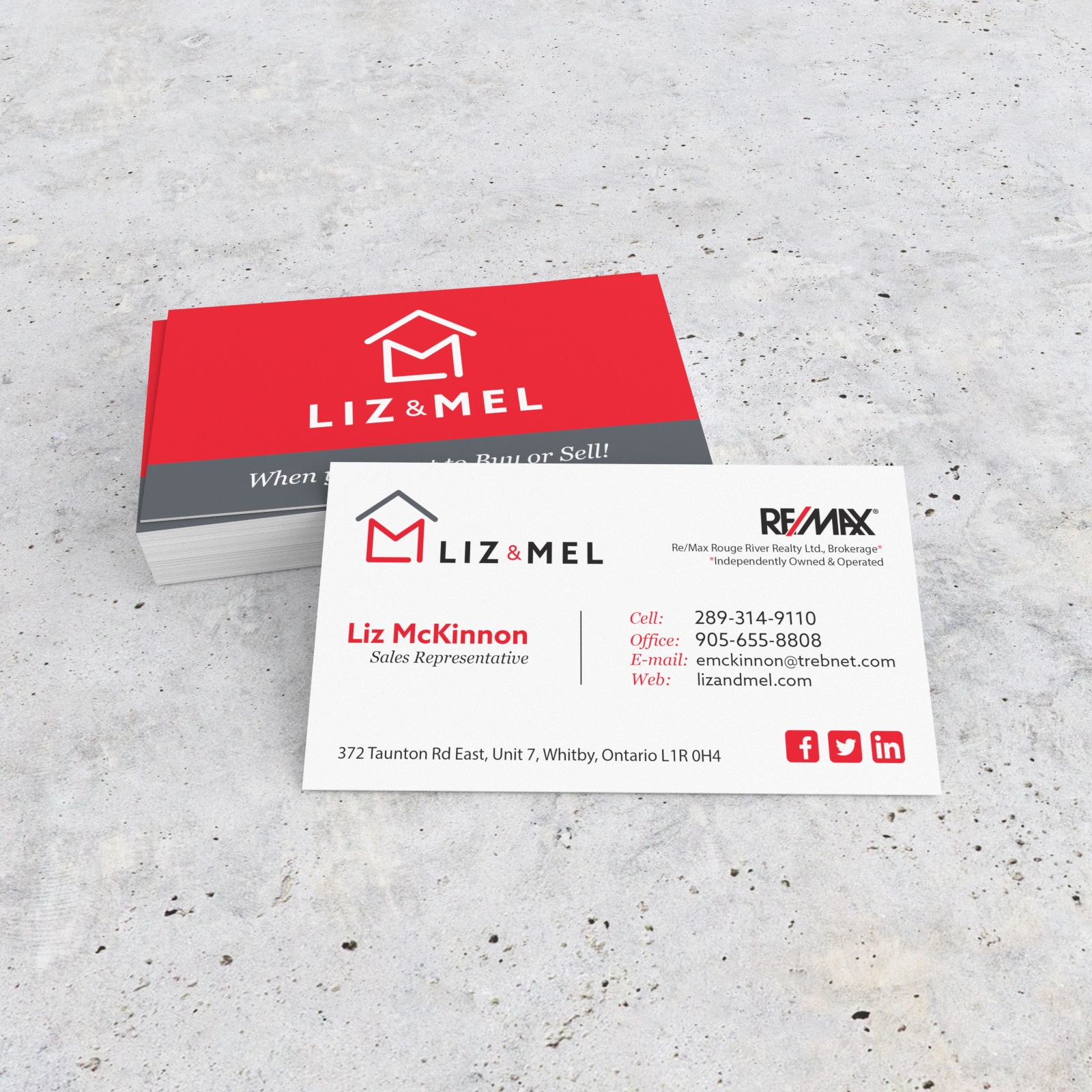 Liz and Mel Logo and Business Card
