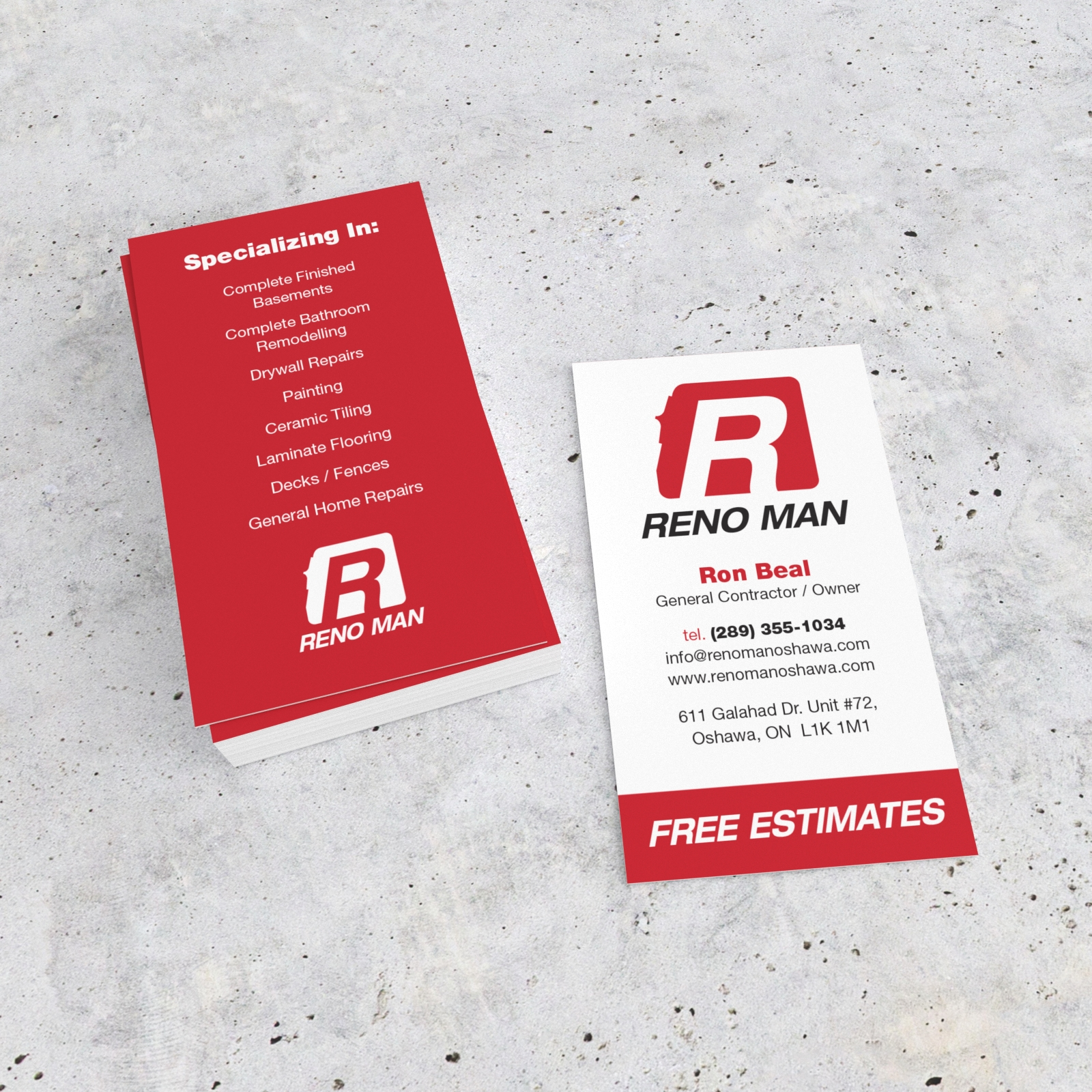 Reno Man Logo and Business Cards