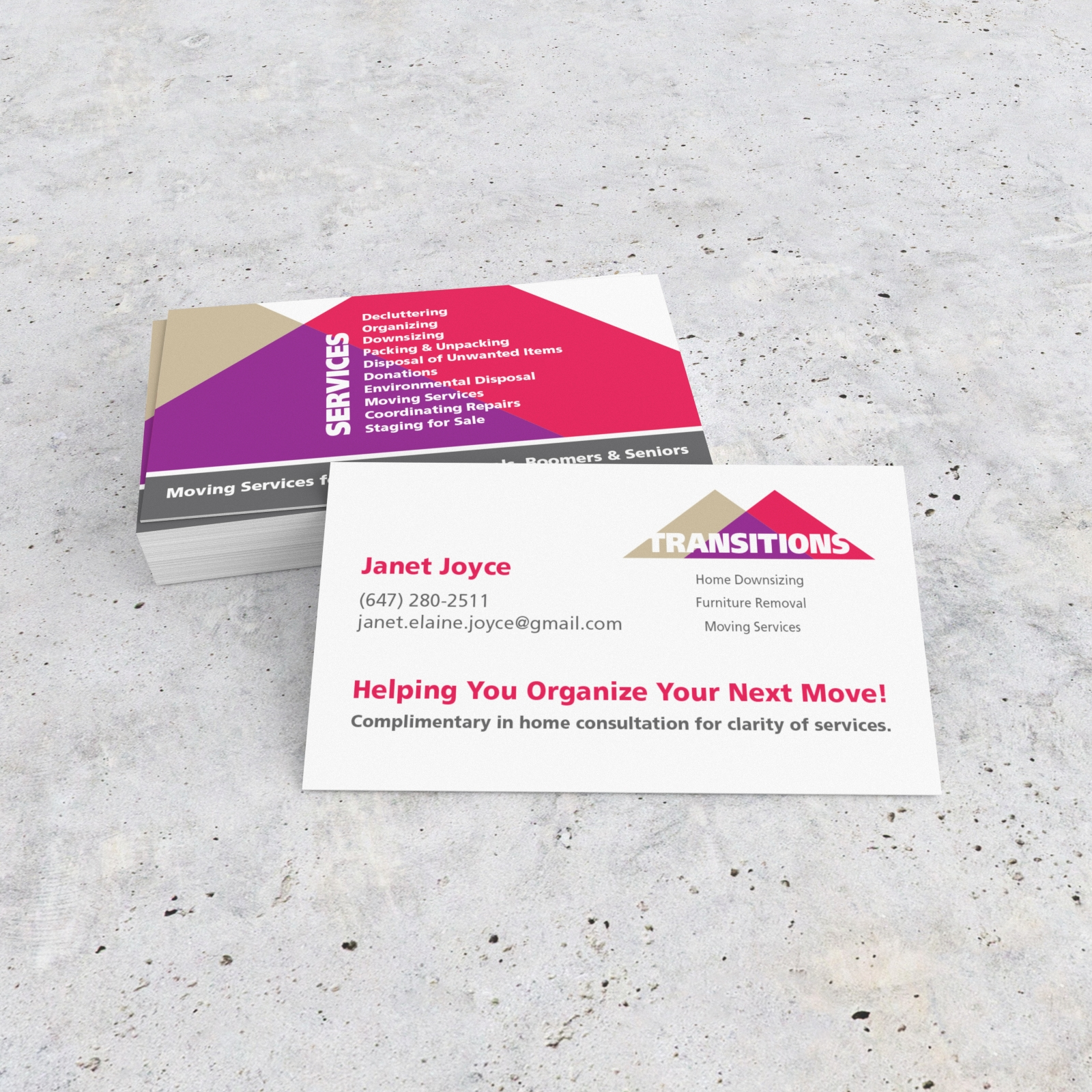 Transitions Logo and Business Card
